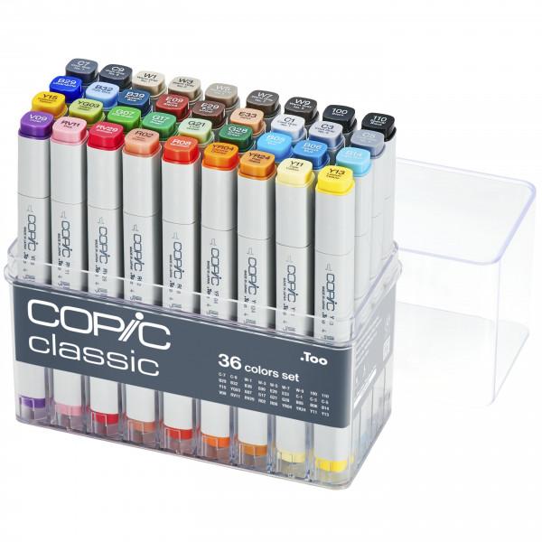 Copic Classic 36 Colour set