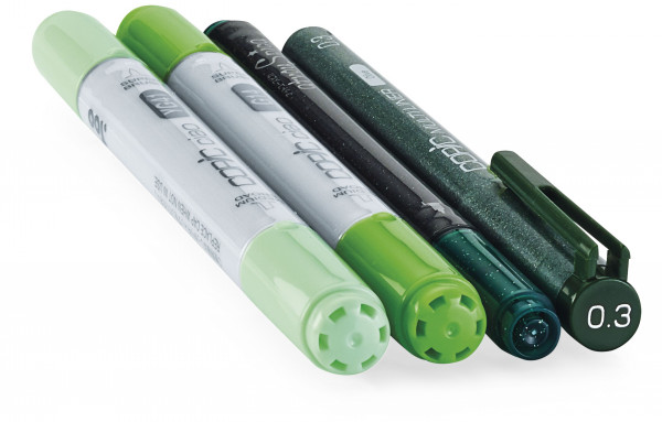 """Copic """"Doodle Pack Green"""", 4 Stück"""