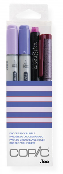 "COPIC ""Doodle Pack Purple"", 4 Stück"