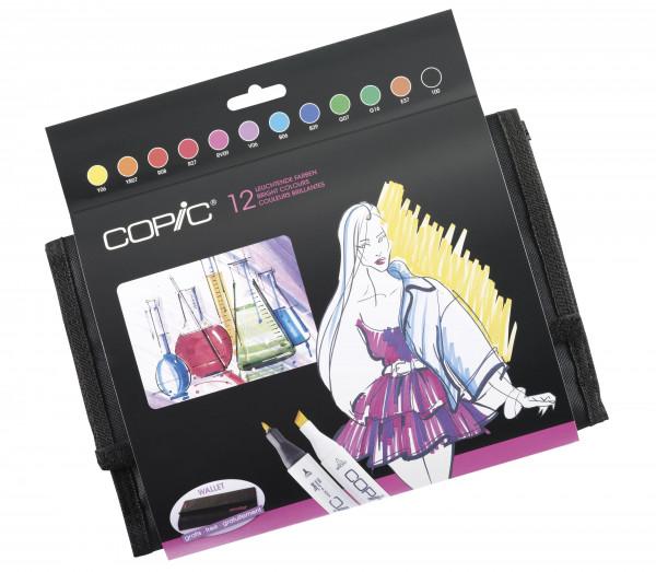 Copic Classic Wallet Leuchtende Farben, 12 Stück