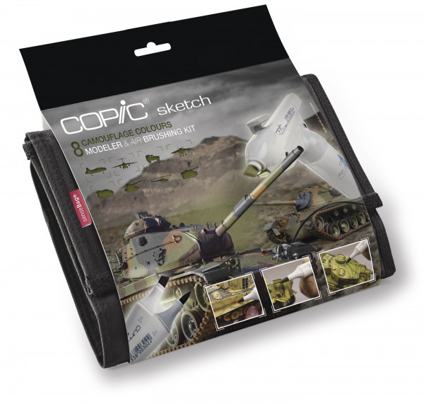 Copic Sketch Wallet Camouflage-Set, 9 Stück