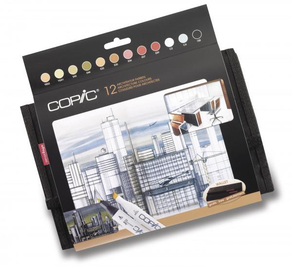 Copic Classic Wallet Architektur-Farben, 12 Stück