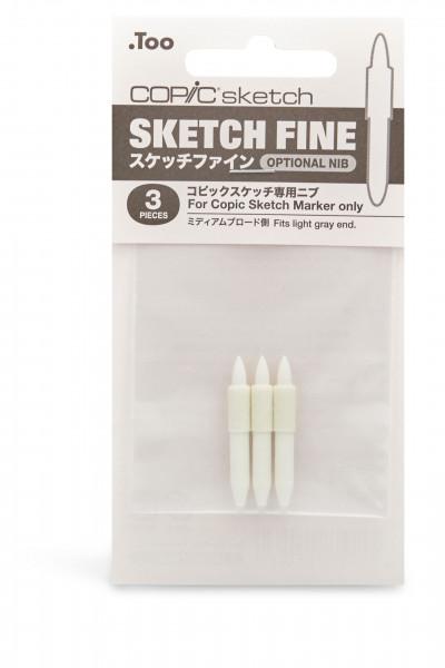 COPIC Sketch Austausch-Spitze Fine, 3 Stück