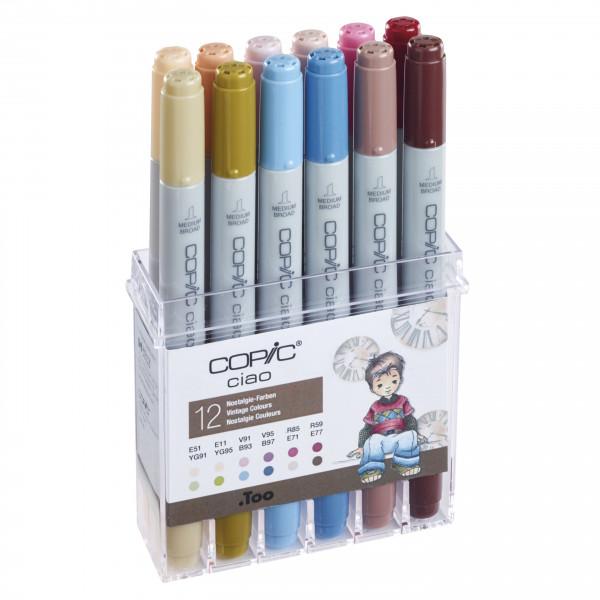 COPIC ciao Set Nostalgie Farben, 12 Stück