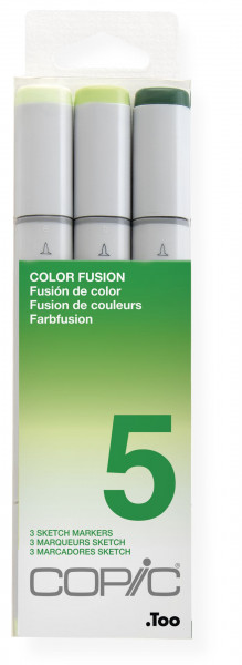 "COPIC Sketch Set ""Color Fusion 5"", 3 Stück"