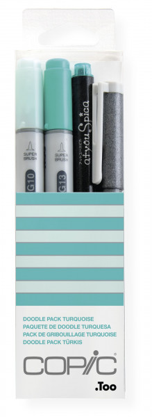 """COPIC """"Doodle Pack Turquoise"""", 4 Stück"""