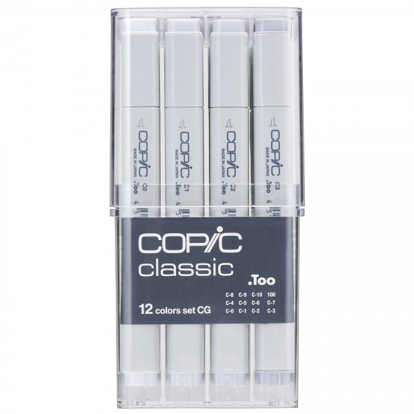 "COPIC Classic Grau-Set ""CG"", 12 Stück"