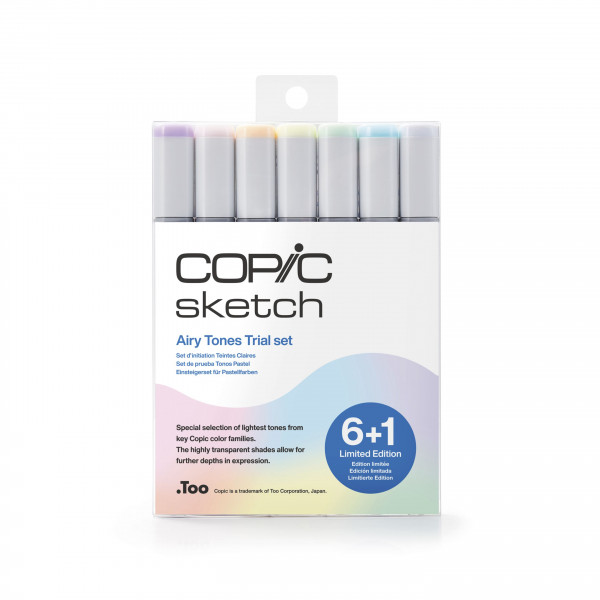 Copic Sketch 6+1 Set Airy Tones - Limited Edition