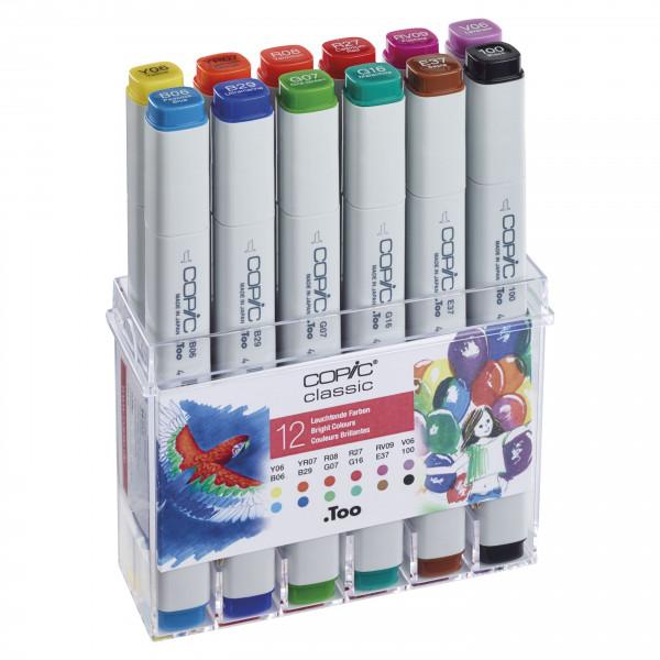 Copic Set Bright Colours 12pcs