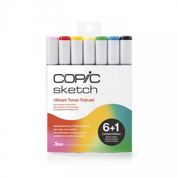"Copic Sketch ""6+1""-Set Vibrant Tones Trial - Limited Edition"