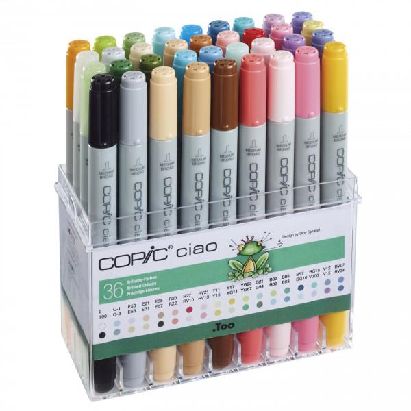 COPIC ciao Set Brilliante Farben, 36 Stück
